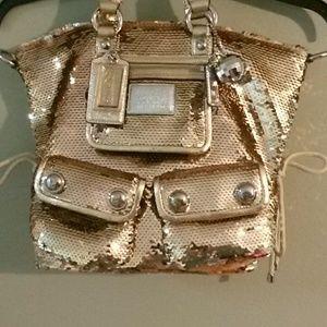 COACH Poppy limited edition spotlight sequin bag